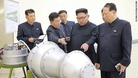 North Korean state media claims Kim Jong Un watched a hydrogen bomb being loaded onto an ICBM.