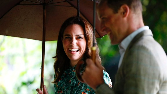 Kate joined William and Harry as they toured a new memorial garden in honor of their mother, Diana, last week.