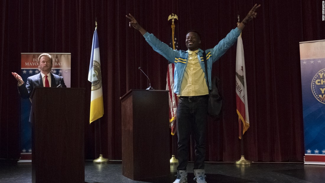 In what turned out to be a rather timely comedy, Brandon Micheal Hall plays a young rapper who gets into the local mayoral race as a publicity stunt and, much to his surprise, wins. Yvette Nicole Brown and Lea Michele co-star as his mom and chief of staff, respectively.