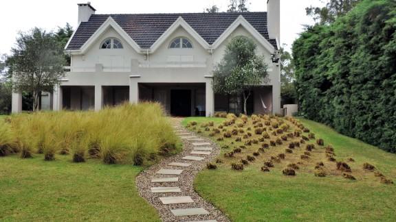 View of the villa where Italian mafia fugitive Rocco Morabito lived near the resort town of Punta del Este, Uruguay.