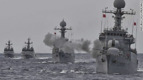South Korean navy stages new live-fire drills