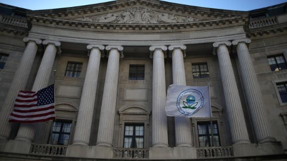 WASHINGTON, DC:  A view of the U.S. Environmental Protection Agency (EPA) headquarters on March 16, 2017 in Washington, DC. U.S. President Donald Trump
