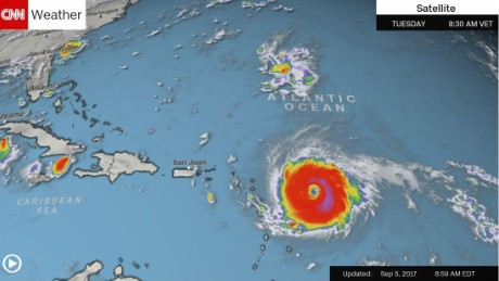 'Potentially catastrophic' Hurricane Irma nears eastern Caribbean islands