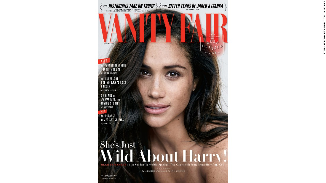Markle first spoke publicly about her relationship with Prince Harry in an interview with Vanity Fair in September.