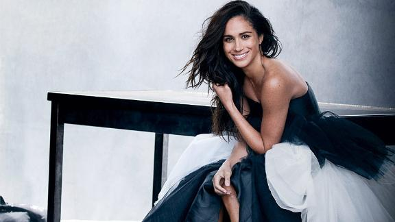 Markle appears carefree and relaxed in the spread in Vanity Fair.