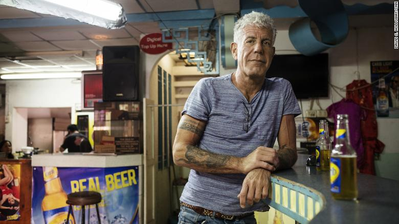 Anthony Bourdain in Port of Spain, Trinidad on January 4, 2017.