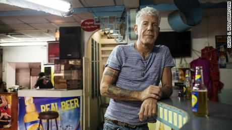 Anthony Bourdain on January 4, 2017, in Port of Spain, Trinidad