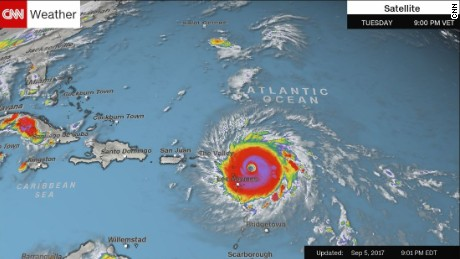 Caribbean Islands Under Threat From Irma CNN - Weather map us virgin islands