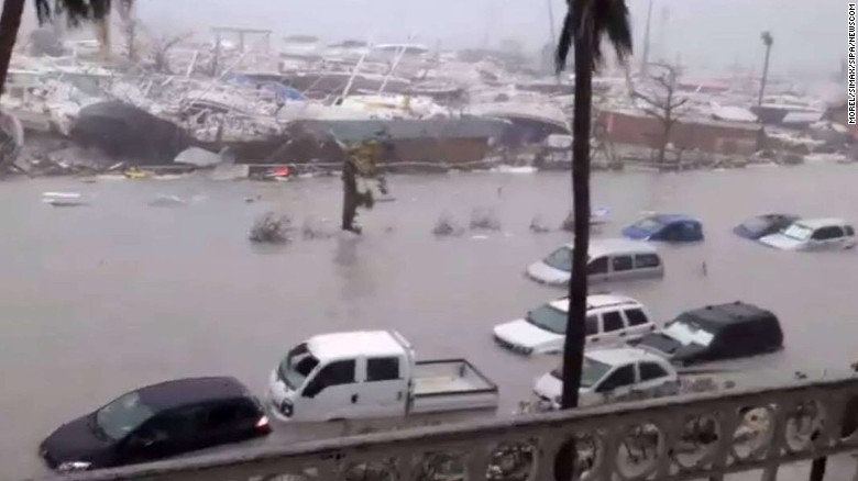 Wrath of Hurricane Irma on the Caribbean