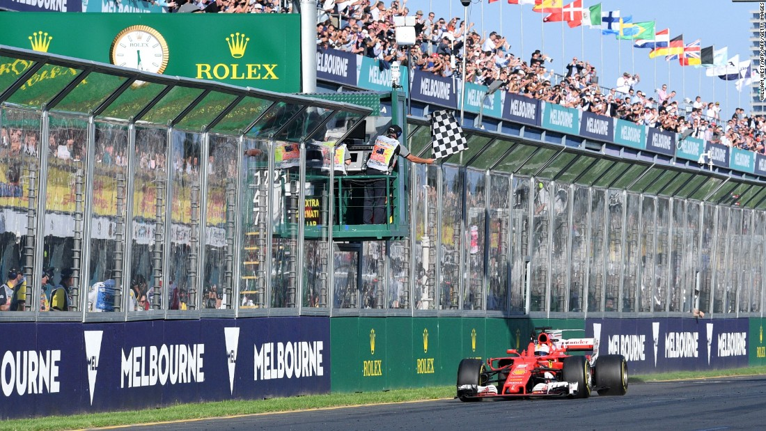 The German took the checkered flag at the season opener in Melbourne leaving Hamilton and the Briton's new Mercedes teammate -- Valtteri Bottas -- trailing in his wake.<br /><br /><strong>Drivers' title race after round 1</strong> <br />Vettel 25 points<br />Hamilton 18 points<br />Bottas 15 points<br />