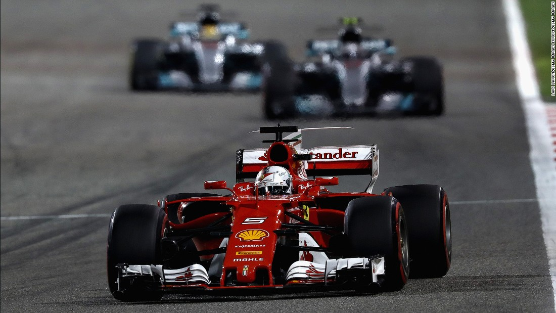 Vettel prevailed in Bahrain after Bottas had claimed a maiden pole in qualifying. During the race Hamilton was handed a five-second stop-go penalty for holding up Red Bull's Daniel Ricciardo in the pit lane. Vettel took full advantage eventually cruising to a comfortable win. <br /><br /><strong>Drivers' title race after round 3</strong> <br />Vettel 68 points<br />Hamilton 61 points<br />Bottas 38 points<br />