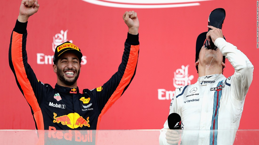 A chaotic race in Azerbaijan saw both Vettel and Hamilton miss the podium for the first time in 2017. The pair clashed on track during a Safety Car period from which Ricciardo ultimately profited. The Aussie's unlikely win was the fifth of his career, while Williams' teenager driver Lance Stroll (right) took third to become the youngest F1 rookie ever to make the podium.<br /><br /><strong>Drivers' title race after round 8</strong><br />Vettel 153 points<br />Hamilton 139 points<br />Bottas 111 points