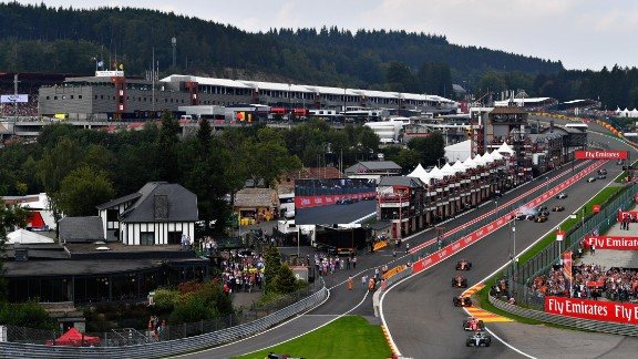 Hamilton equaled Michael Schumacher's all-time pole record of 68 at the Belgian Grand Prix and then fended off a challenge from Vettel in the final 10 laps to take the checkered flag and his third career victory at Spa Francorchamps.  Drivers' title race after round 12 Vettel 220 points Hamilton 213 points Bottas 179 points