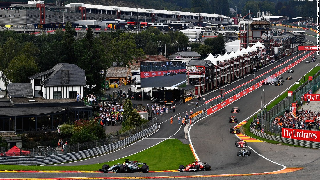 Hamilton equaled Michael Schumacher's all-time pole record of 68 at the Belgian Grand Prix and then fended off a challenge from Vettel in the final 10 laps to take the checkered flag and his third career victory at Spa Francorchamps.<br /><br /><strong>Drivers' title race after round 12</strong><br />Vettel 220 points<br />Hamilton 213 points<br />Bottas 179 points