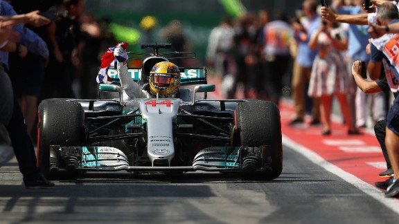 After a disappointing showing at Monaco, Hamilton produced a driving masterclass in Montreal. In qualifying, he took his 65th career pole -- equaling Ayrton Senna's mark -- before bossing the race, crossing the line 20 seconds ahead of teammate Bottas while Ricciardo pipped Vettel to third.     Drivers' title race after round 7 Vettel 141 points Hamilton 129 points Bottas 93 points