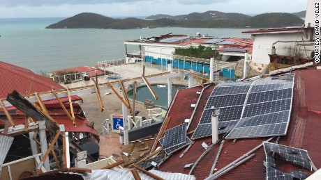 "Bluebeards Castle in St. Thomas, USVI was hit hard by Irma.  It suffered extreme structural damage and had it's roof ripped off.     St. Thomas resident David Velez send us the following photos with a simple message, ""Please show people in Florida to show them how serious this storm is."""