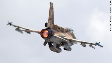 A picture taken on June 28, 2016 shows an Israeli Air Force F-16 D fighter jet taking off at the Ramat David Israeli Air Force Base located in the Jezreel Valley, southeast of the port city of Haifa.   / AFP / JACK GUEZ        (Photo credit should read JACK GUEZ/AFP/Getty Images)
