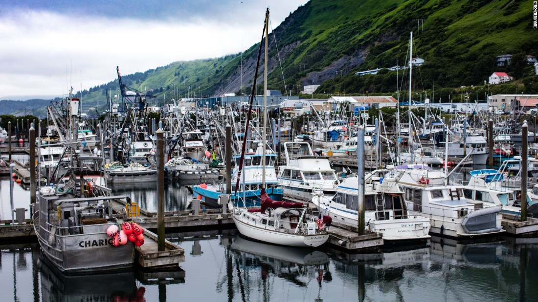 Part of the fishing fleet in Bristol Bay, where millions of salmon are caught each year.