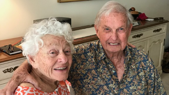 Joanne (left) and Herbert Dreisbach (right) say that they plan to stay at their senior living community in Jacksonville, Florida, when hurricane Irma hits.