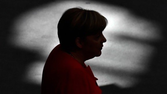 German Chancellor Angela Merkel gives a speech at the Bundestag (lower house of parliament) in Berlin on September 5, 2017. Merkel and other top officials debate the state of the nation in the lower house of parliament, less than three weeks ahead of the general election. / AFP PHOTO / John MACDOUGALL        (Photo credit should read JOHN MACDOUGALL/AFP/Getty Images)