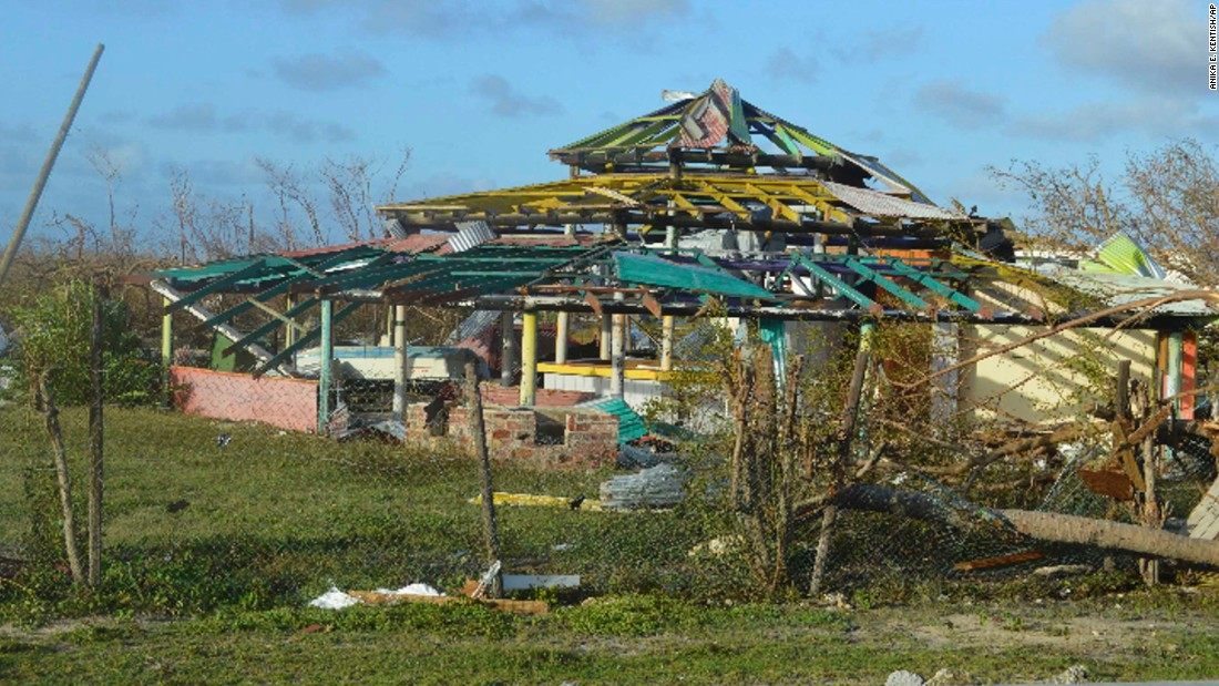The storm left widespread destruction on the island of Barbuda on September 7.