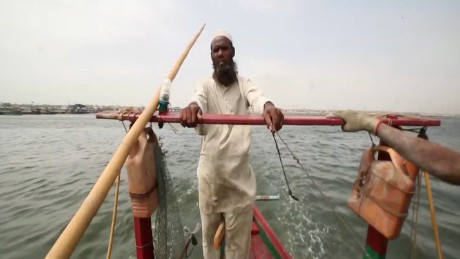 A Rohingya fisherman is struggling to make a living