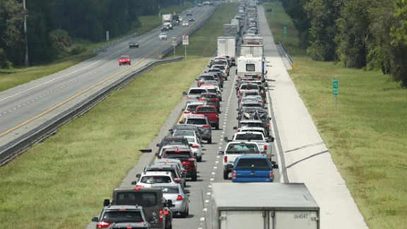 Traffic rolls at a crawl on the northbound lanes of Florida