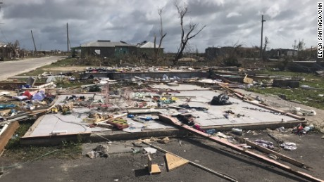 The remains of a home in Barbuda, one of many destroyed by Hurricane Irma.
