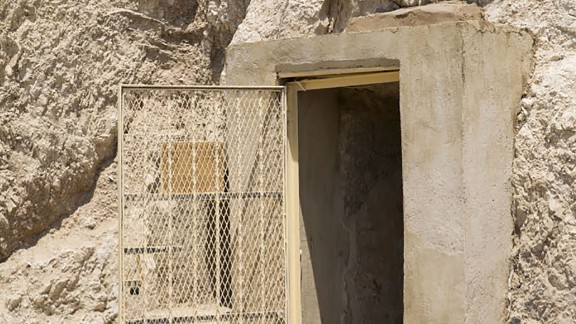 The entrance to the recently-discovered tomb of an ancient goldsmith.