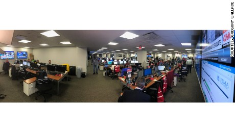 The scene inside FEMA's National Response Coordination Center.
