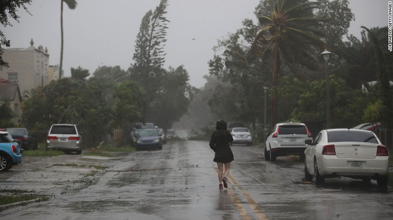 Eye hits Keys; surge hits eastern FL
