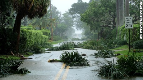 FORT LAUDERDALE, FL - SEPTEMBER 10:  Broken tree branches block roads in the Coral Beach neighborhood as Hurricane Irma hits the southern part of the state September 10, 2017 in Fort Lauderdale, Florida. The powerful hurricane made landfall in the United States in the Florida Keys at 9:10 a.m. after raking across the north coast of Cuba.  (Photo by Chip Somodevilla/Getty Images)