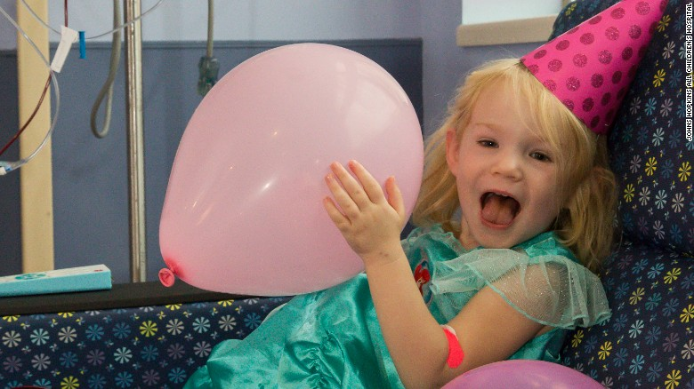 Hurricane Irma nor leukemia kept Willow from smiling on her 3rd birthday.