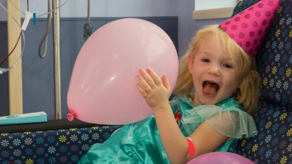 Neither Hurricane Irma nor leukemia kept Willow from smiling on her third birthday.