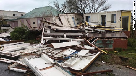 Homes destroyed in Anguilla on September 6, 2017.