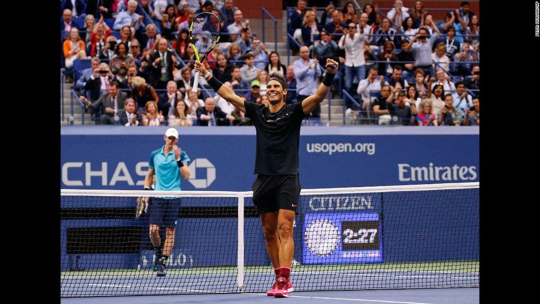 "Rafael Nadal celebrates after he defeated Kevin Anderson <a href=""http://www.cnn.com/2017/09/10/tennis/us-open-mens-final-rafael-nadal-kevin-anderson/index.html"" target=""_blank"">to win the US Open for the third time</a> on Sunday, September 10. It is the 16th Grand Slam title of Nadal's illustrious career. Roger Federer is the only man to win more (19)."