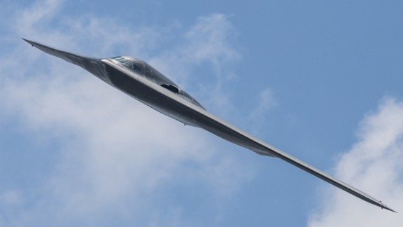 A US B-2 stealth bomber.