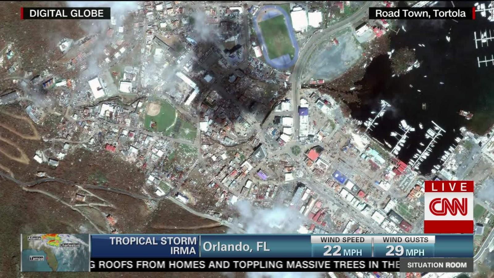 Satellite Images Reveal Irmas Impact CNN Video - World satellite view live
