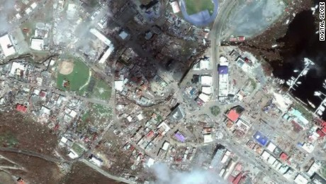 Satellite Images Reveal Irmas Impact CNN Video - Real life satellite view