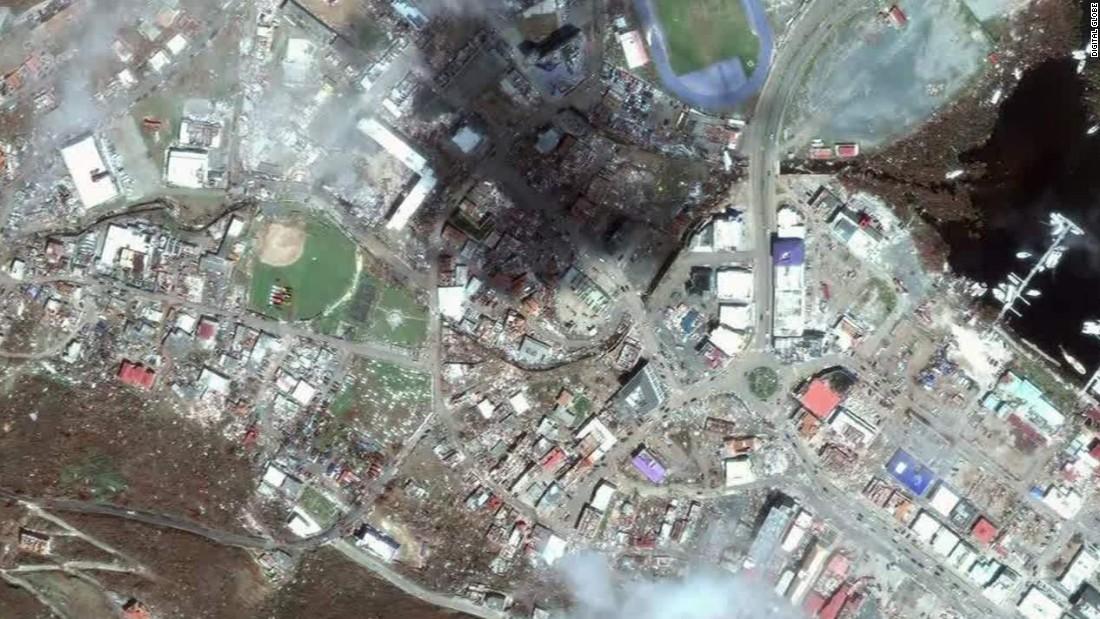 Satellite Images Reveal Irmas Impact