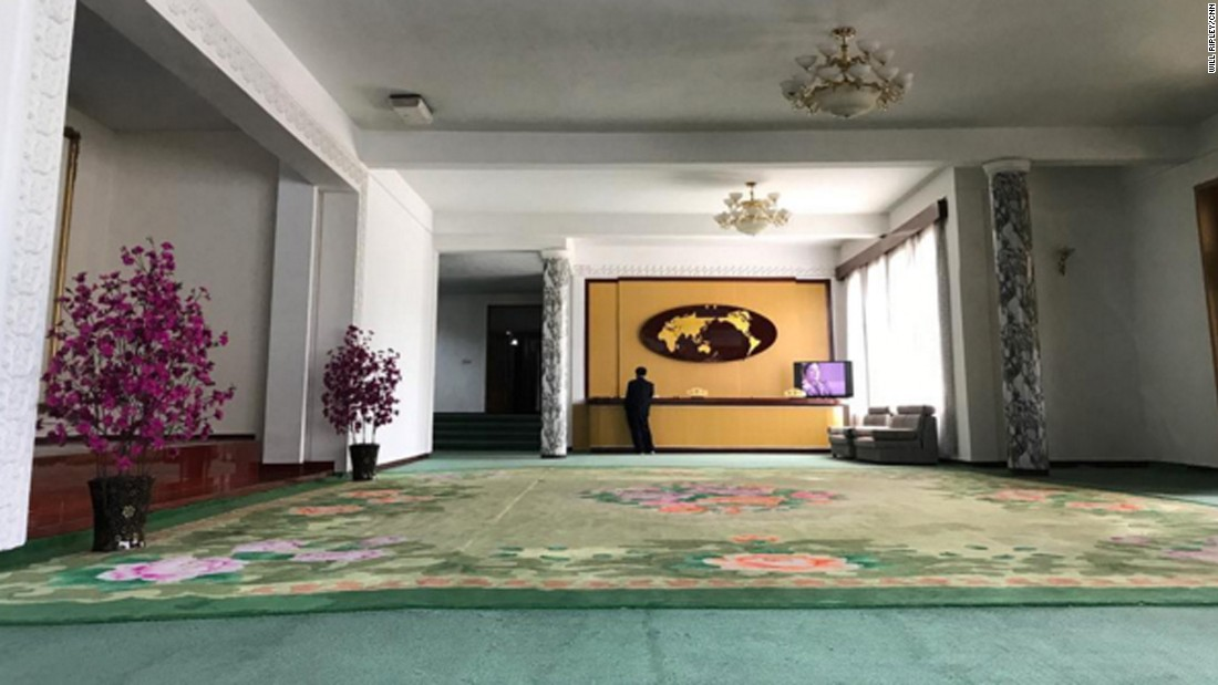 The Lobby Of The CNN Teamu0026#39;s Hotel In Samjiyon On September 5