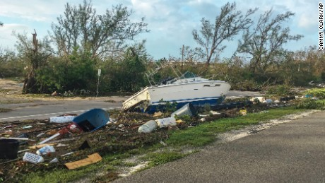 This image released by the Monroe County Board of County Commissioners shows debris along the Overseas Highway in the Florida Keys, Fla., Monday, Sept. 11, 2017. Recovery along the island chain continues after Hurricane Irma made landfall on Sunday as a Category 4 hurricane then. (Sammy Clark/Monroe County Board of County Commission via AP)