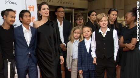 "Maddox Chivan Jolie-Pitt, Pax Thien Jolie-Pitt, Angelina Jolie, Vivienne Marcheline Jolie-Pitt, Knox Leon Jolie-Pitt, Shiloh Nouvel Jolie-Pitt, and Zahara Jolie-Pitt attend the premiere of ""First they Killed my Father"" at the Toronto International Film Festival in Toronto, Ontario on September 11."