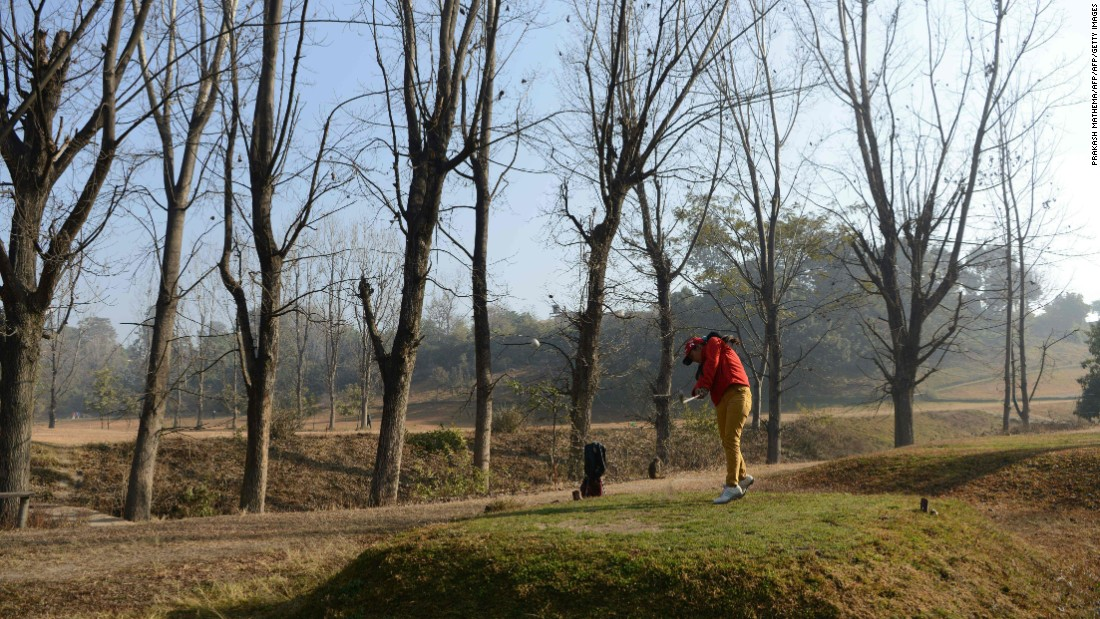Having topped the national rankings in Nepal, she's bidding to become the country's first female golf pro.