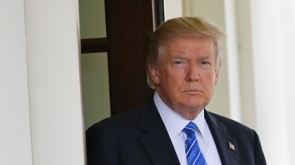 US President Donald Trump awaits the arrival of Malaysian Prime Minister Najib Razak outside of the West Wing of the White House on September 12, 2017 in Washington, DC. (MANDEL NGAN/AFP/Getty Images)
