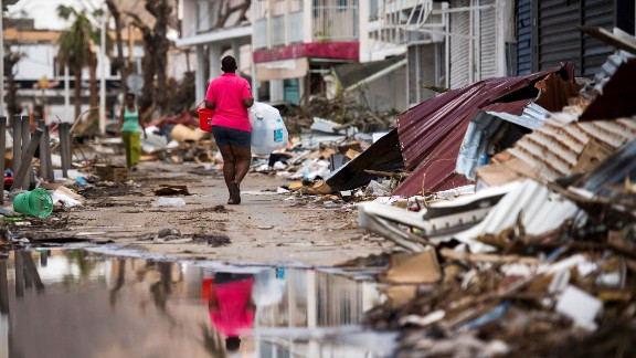 The French Caribbean island of St. Martin after it was hit by Hurricane Irma.