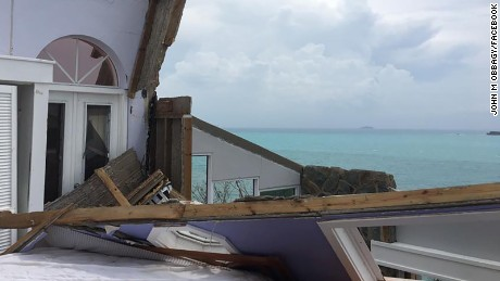 A photo of the aftermath in St. John, taken by John Obbagy.