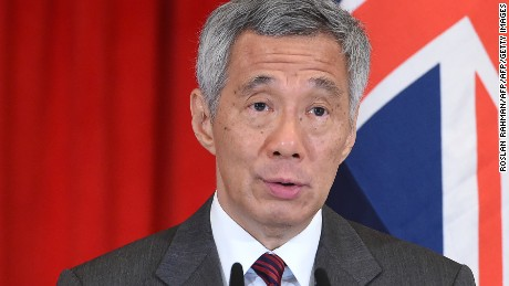 Singapore's Prime Minister Lee Hsien Loon during an event at presidential palace in June 2017.