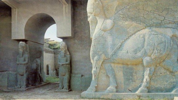 The ancient Assyrian city around Nineveh Province, Iraq was home to countless treasures of the empire, including statues, monuments and jewels. Following the 2003 invasion the site has been devastated by looting, with many of the stolen pieces finding homes in museums abroad.
