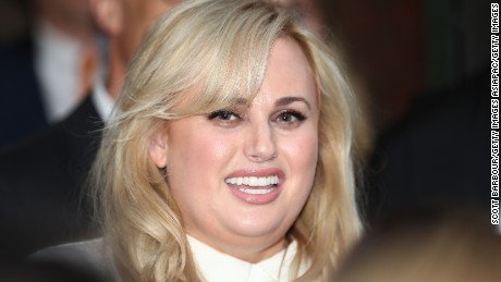 Australian actress Rebel Wilson smiles out the front of the Victorian Supreme Court after her defamation victory on June 15, 2017 in Melbourne, Australia.